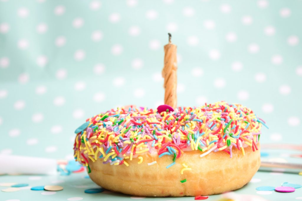 Birthday Donut
