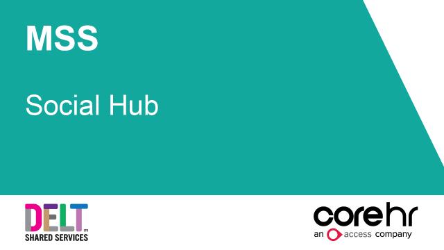 CoreHR MSS Social Hub