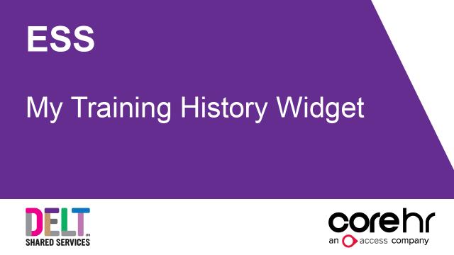 ESS_My_Training_History_Widget